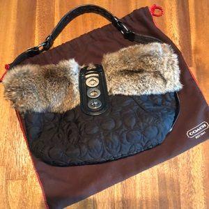ad341b12d88f7 Women s Coach Fur Trimmed Handbag on Poshmark